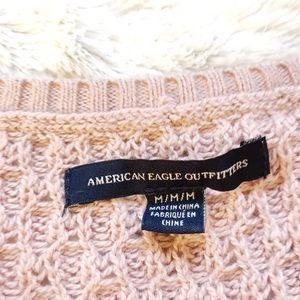 American Eagle Outfitters Sweaters - Pink / Mauve American Eagle V Neck Knit Sweater